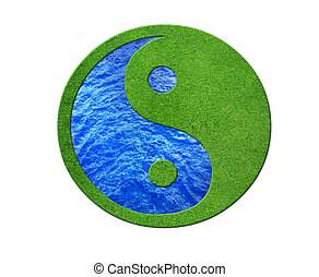 Ying Yang 2 Elements in balance, desert and gras