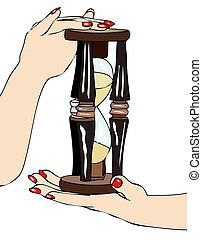 The passage of time - Symbolic image of an hourglass in the...