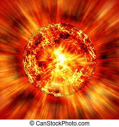 sun - Sun in space