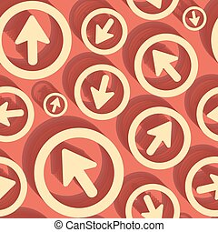 Arrows Seamless pattern 3d vector illustration Can be used...