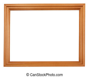 Empty wooden frame - Empty wooden cedar picture frame...