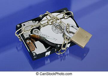 Hard-disk and padlock