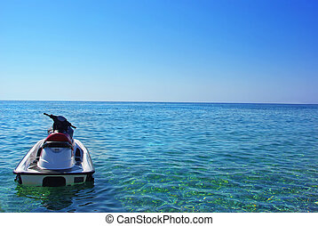 Jet ski on the sea