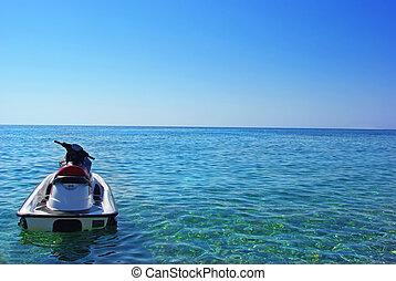 Jet ski on the sea