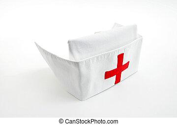 enfermeira, boné
