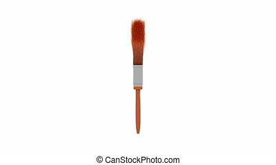 Paint brush spin on white background