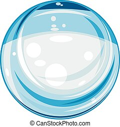 Glass sphere isolated on the white