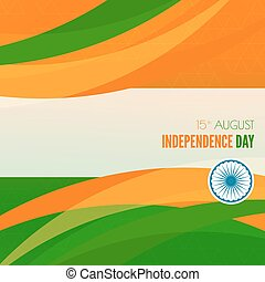 Abstract background with the symbol of India The tricolor...