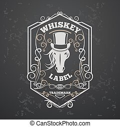 Whiskey lable - Whiskey vintage sample label design with...