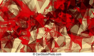 Abstract triangles in red and black
