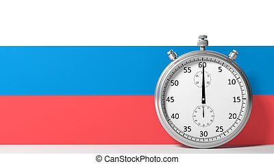 Flag of Russia with chronometer