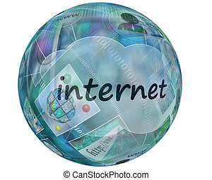 sphere - Many abstract images on the theme of computers,...