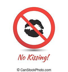 No kisses sign