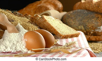 Bread Flour Wheat Egg Food Concept