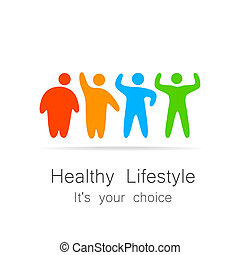 healthy lifestyle - Healthy lifestyle - template for logos...