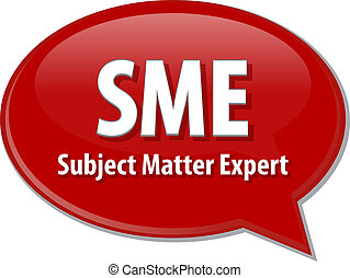 SME acronym definition speech bubble illustration - Speech...
