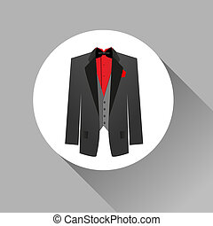 suit icon - Suit icon isolated