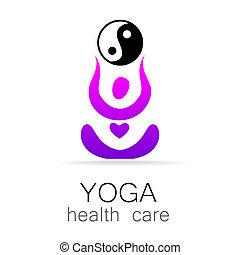 yoga health care - Yoga Logo design vector template. Yoga...