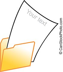 your text (empty paper) in computer folder