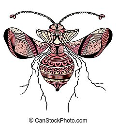 Vector decorative insect butterfly art vector illustration