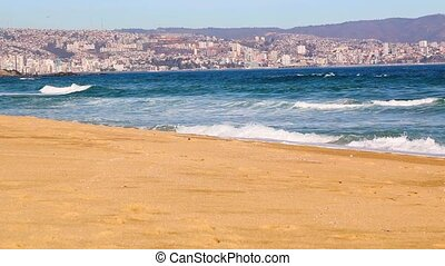 Vina del Mar, Chile Beach view - Vina del Mar, Chile...