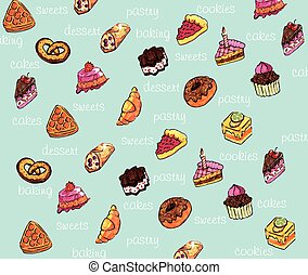 confectionery - Beautiful vector background with color...