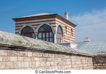 Suleymaniye Camii corner - Closeup view of Suleymaniye Camii...