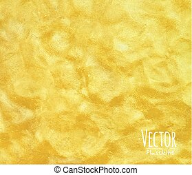 Plasticine background yellow - Plasticinevivid yellow...