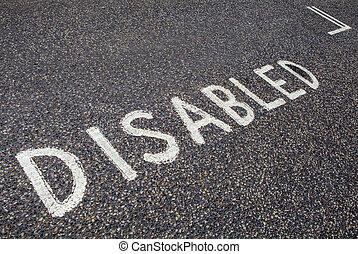 Disabled Parking Bay - An empty Disabled Parking Bay