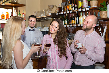 Young adults in bar