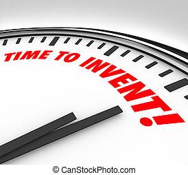 時間, 到, 發明, 鐘, 新, 產品, 想法, 革新,...
