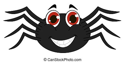 cheerful black spider