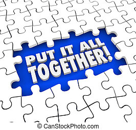 Put It All Together Puzzle Pieces Solve Mystery Problem -...