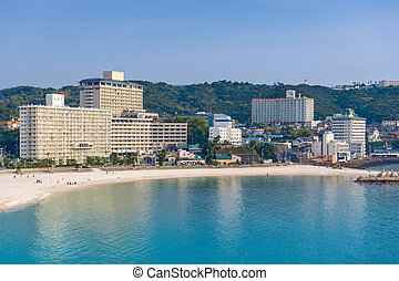 Shirahama Japan Beach - Shirahama, Japan city skyline on the...