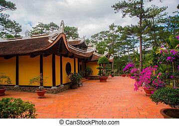 budista,  dalat, templo,  vietnam