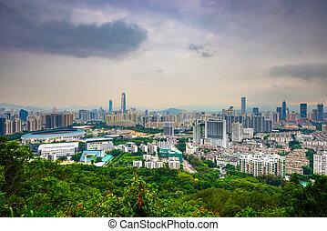 Shenzhen Skyline - Shenzhen, China city skyline at twilight.
