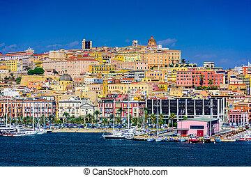 Cagliari Cityscape - Cagliari, Sardinia, Italy coastal...
