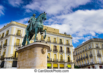 Puerta del Sol - Madrid, Spain at the King Charles III...