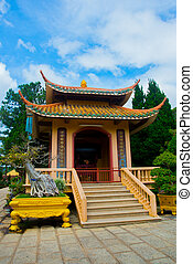 paas, budista,  dalat, Complejo,  Lamy,  vietnam