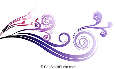 curve pattern - illustration drawing of purple curves and...