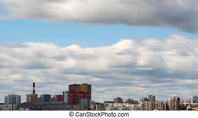 clouds over the city timelapse Ufa