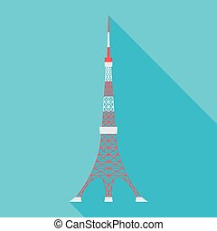 Tokyo Tower - vector illustration of the Tokyo Tower