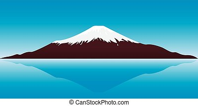 Mount Fuji - vector illustration of the Fuji Mountain -...