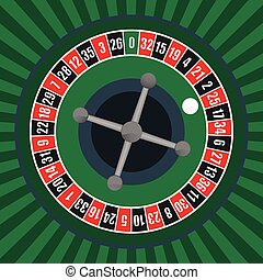 Roulette Wheel - vector illustration of a roulette wheel
