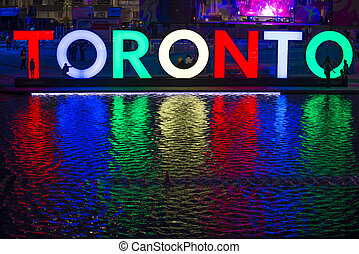 TORONTO,CANADA-JULY 9,2015: The new Toronto sign in Nathan...