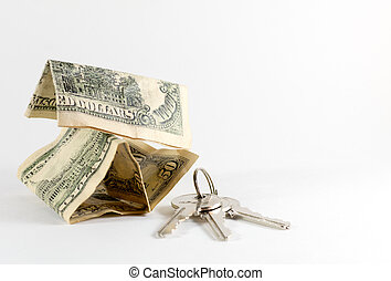 American US Dollars and House Keys