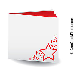 Vector Red papered book with stars on top for any usage, see...