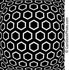 Geometric hexagons pattern. Textured background. - Geometric...