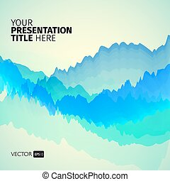 Vector abstract background with waves.