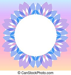 Colorful floral wreath frame